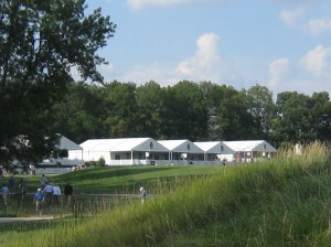 Kori captured the bright blue sky, beautiful greenery and the cool corporate tents