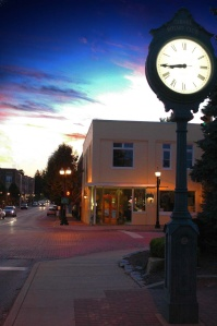 The Carmel Arts & Design District at Dusk
